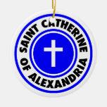 Santo Catherine de Alexandría Ornamento De Navidad