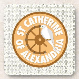 Santo Catherine de Alexandría Posavasos De Bebidas