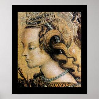 Santo Catherine de Alexandría Póster