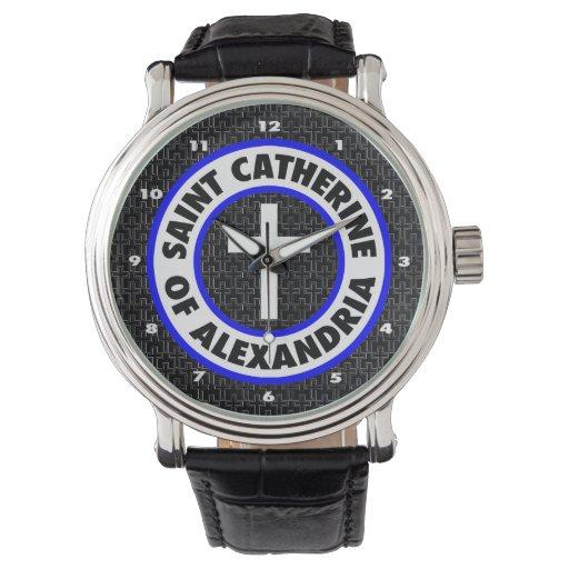 Santo Catherine de Alexandría Relojes De Pulsera