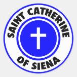 Santo Catherine de Siena Pegatinas