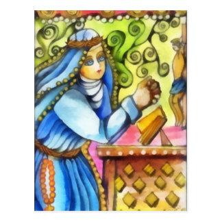 Santo Catherine de Siena Postal