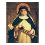 Santo Catherine del poster de Siena