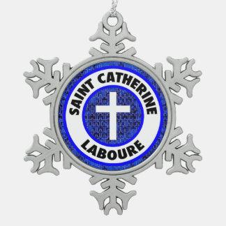 Santo Catherine Laboure Adorno De Peltre En Forma De Copo De Nieve