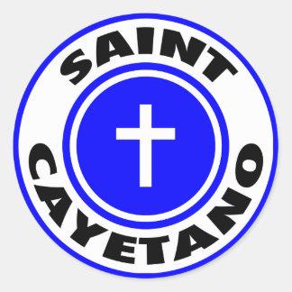 Santo Cayetano Pegatina Redonda