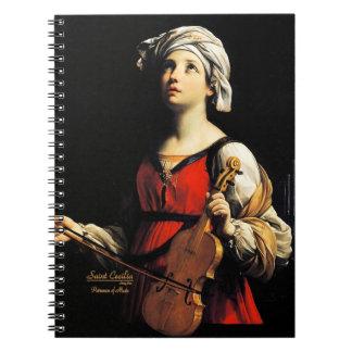 Santo Cecilia Partoness de la música Note Book