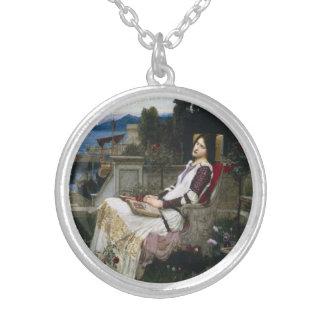 Santo Cecilia que se sienta en el jardín Joyeria Personalizada