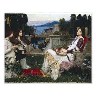 Santo Cecilia que se sienta en el jardín Foto