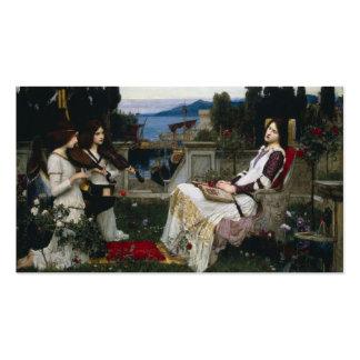 Santo Cecilia que se sienta en el jardín Tarjetas De Visita