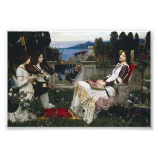 Santo Cecilia Serenaded por ángeles con los violin Cojinete