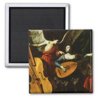 Santo Cecilia y el ángel de Carlo Saraceni Imán Cuadrado
