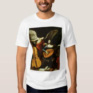 Santo Cecilia y el ángel de Carlo Saraceni Playera
