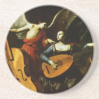 Santo Cecilia y el ángel de Carlo Saraceni Posavaso Para Bebida