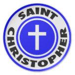 Santo Christopher Plato Para Fiesta