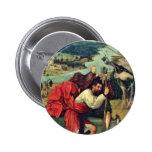 Santo Christopher. Por Hieronymus Bosch (el mejor  Pins