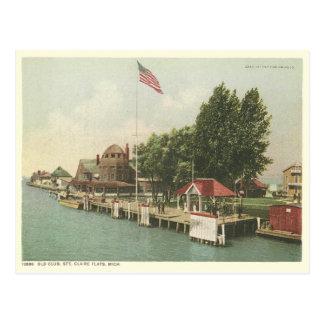 santo Claire Detroit Michigan del vintage Tarjeta Postal