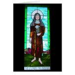 Santo Clare del notecard de Assisi Tarjeta Pequeña