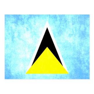 Santo colorido LucianFlag del contraste Postal