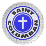 Santo Columban Plato De Cena