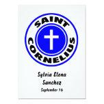 Santo Cornelio Invitación 12,7 X 17,8 Cm