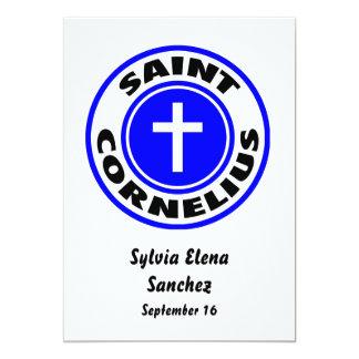 "Santo Cornelio Invitación 5"" X 7"""
