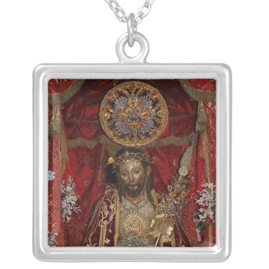 Santo Cristo dos Milagres Silver Plated Necklace