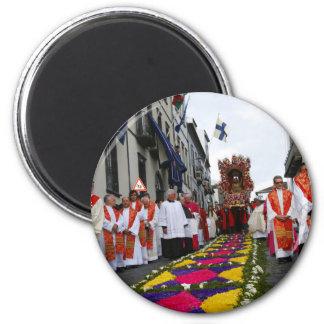 Santo Cristo procession 2 Inch Round Magnet