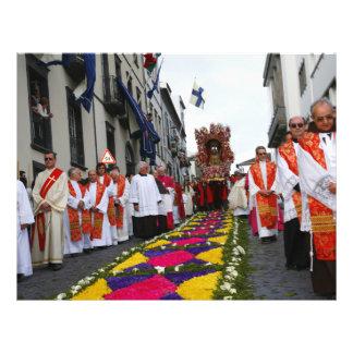 """Santo Cristo procession 8.5"""" X 11"""" Flyer"""