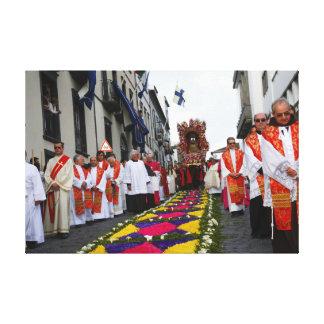 Santo Cristo procession Canvas Print