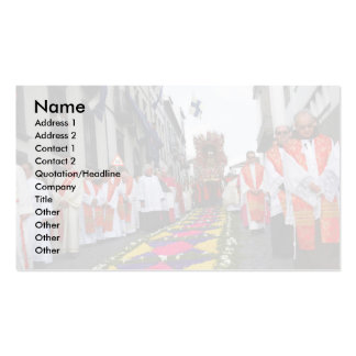 Santo Cristo procession Double-Sided Standard Business Cards (Pack Of 100)