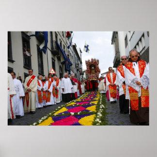 Santo Cristo procession Poster