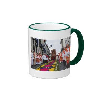 Santo Cristo procession Ringer Coffee Mug