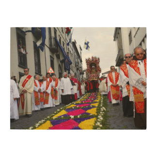 Santo Cristo procession Wood Wall Art
