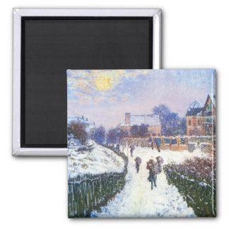 Santo Denis Argenteuil del bulevar de Claude Monet Imán Cuadrado