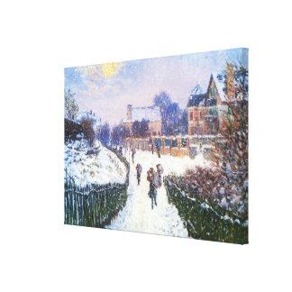 Santo Denis Argenteuil del bulevar de Claude Monet Impresión En Lienzo