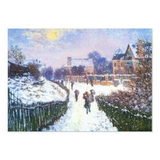 """Santo Denis Argenteuil del bulevar de Claude Monet Invitación 5"""" X 7"""""""