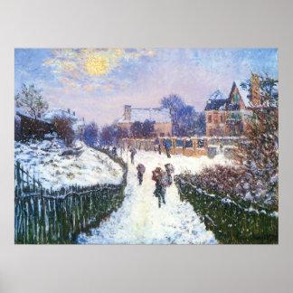 Santo Denis Argenteuil del bulevar de Claude Monet Poster