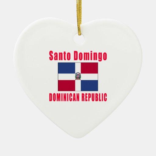 Santo Domingo Dominican Republic capital designs Christmas Tree Ornaments