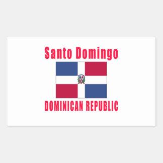 Santo Domingo Dominican Republic capital designs Rectangular Sticker