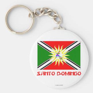 Santo Domingo flag with Name Keychain