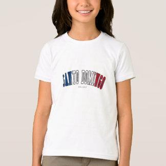Santo Domingo in Dominican Republic national flag  T-Shirt