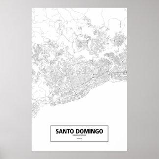 Santo Domingo, República Dominicana (negro en Póster