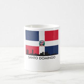 Santo Domingo Skyline Dominican Republic Flag Coffee Mug