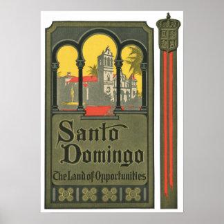 Santo Domingo Vintage Travel Ad Art Print Poster
