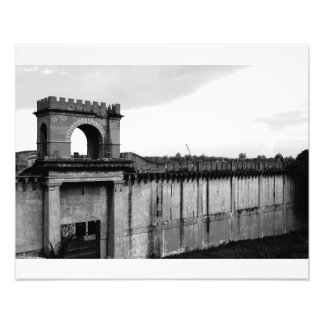 Santo Domingo Wall Dominican Republic BW Photo Print