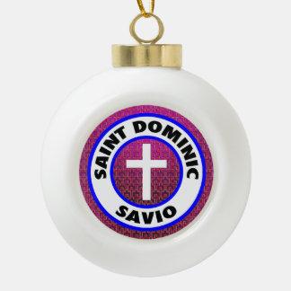 Santo Dominic Savio Adorno De Cerámica En Forma De Bola