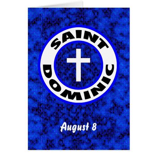 Santo Dominic Tarjeta De Felicitación