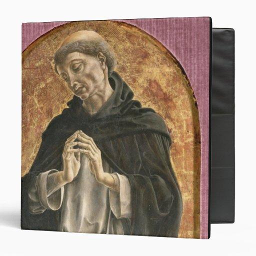 Santo Dominic (tempera en el panel)