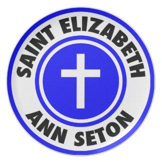 Santo Elizabeth Ana Seton Plato De Cena
