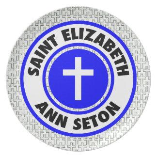 Santo Elizabeth Ana Seton Plato De Comida